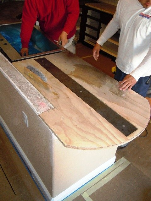 Creating a custom Cantilever Bar Top.