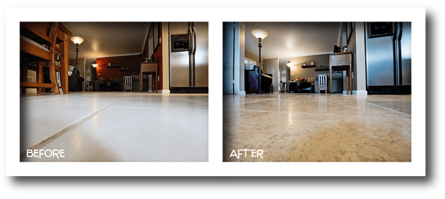 before and after custom flooring.