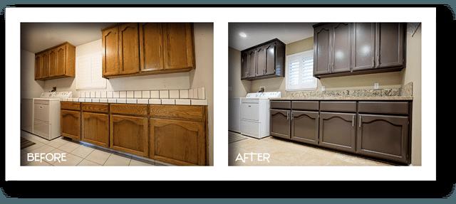 Kitchen transformation.