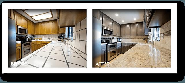 beautiful kitchen remodel.