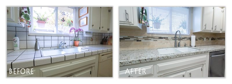 custom countertop and backslash.