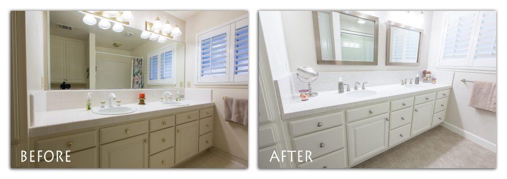 refinished bathroom vanity