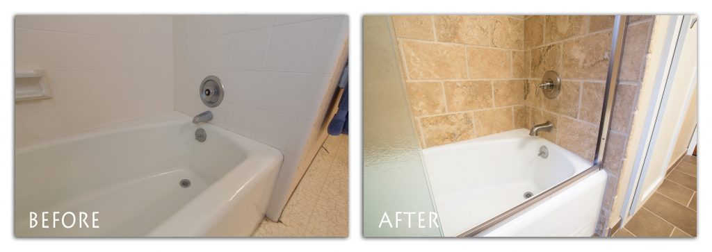 bathroom tile remodel.