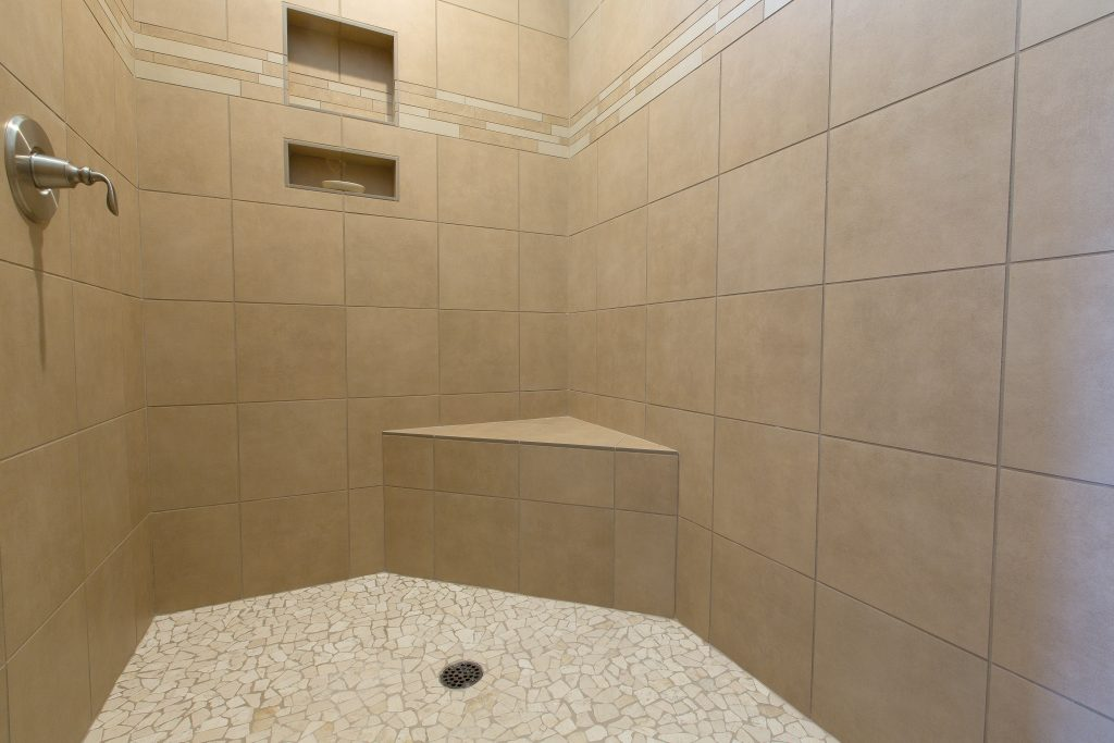 Custom walk-in shower.