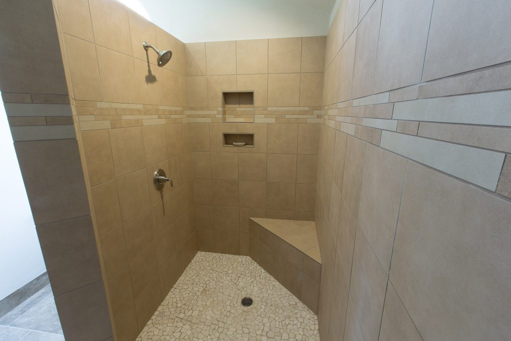 full tile custom shower.