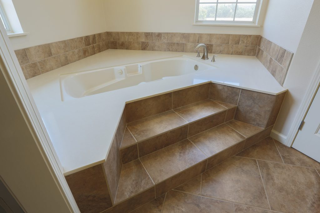 Custom built-in bathtub.