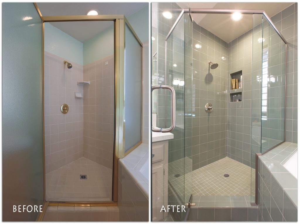 shower bathroom remodel.