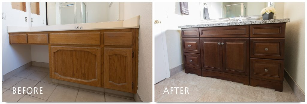 bathroom remodel before and after.