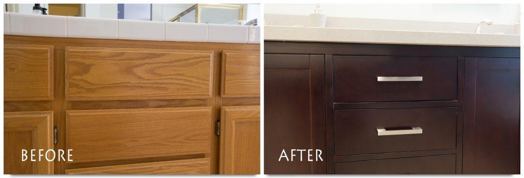 Custom vanity cabinets.