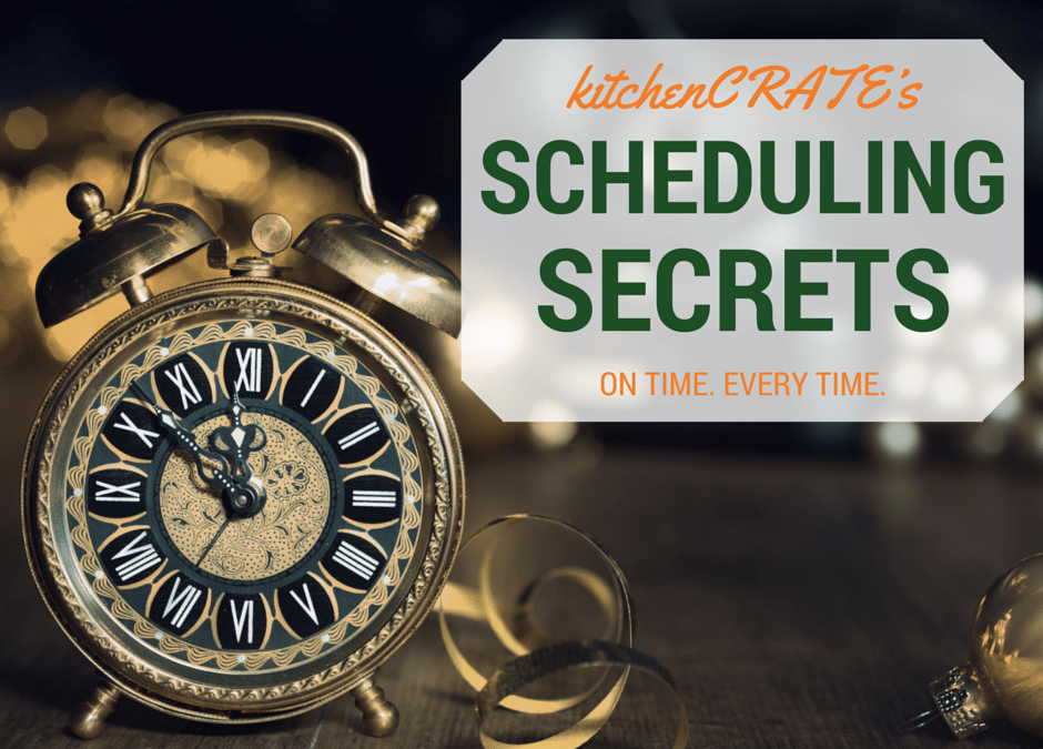The kitchenCRATE Project Schedule