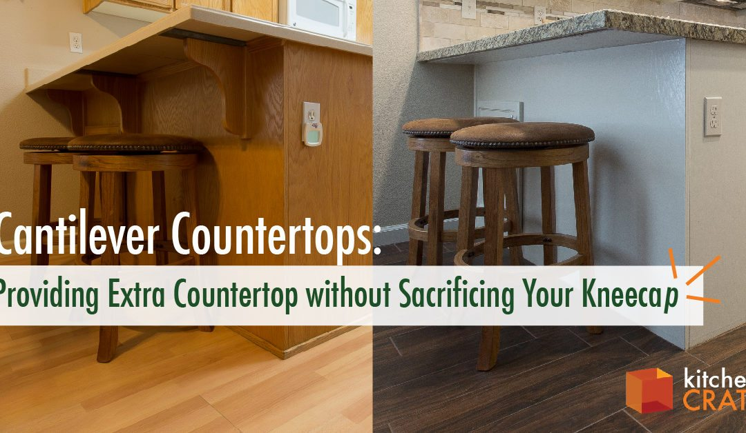 Cantilever Countertops: Providing Extra Countertop Without Sacrificing Your Kneecap