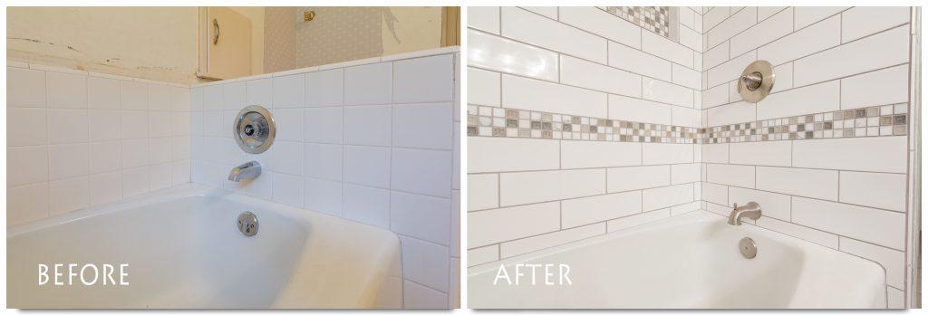 custom shower tile.