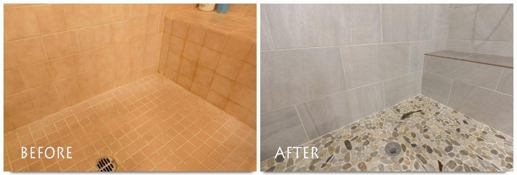 beautiful shower renovation.