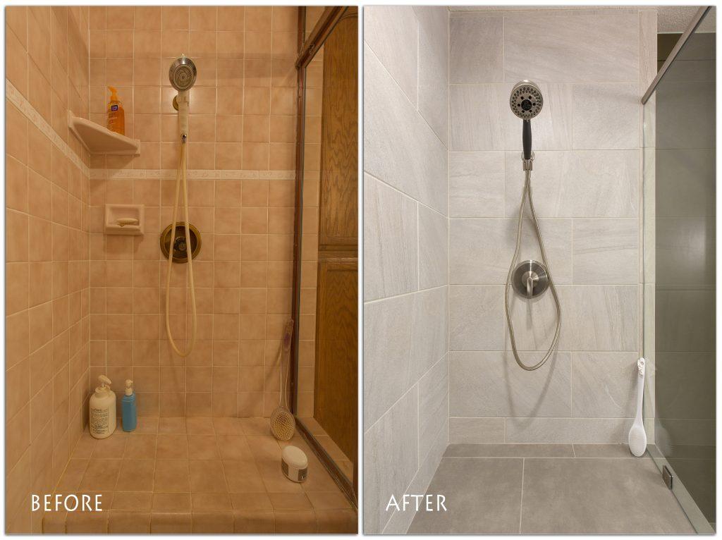 brand new shower renovation.