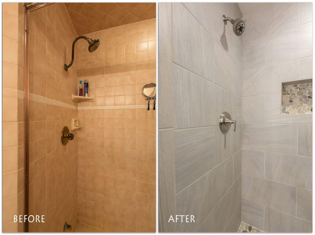 beautiful, new walk-in shower.