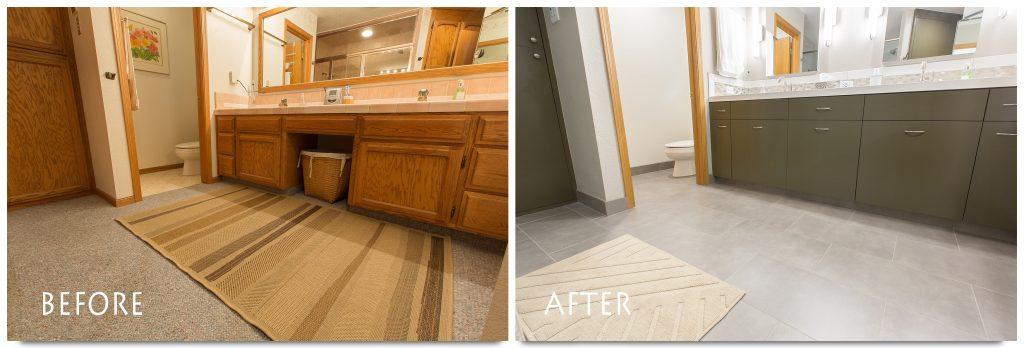 new flooring bathroom remodel.