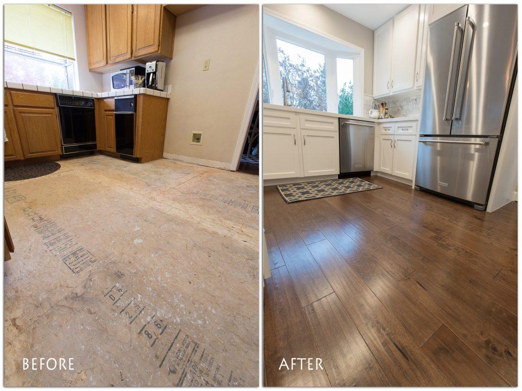 new flooring kitchen remodel.
