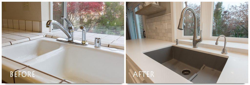 New sink and new backsplash.