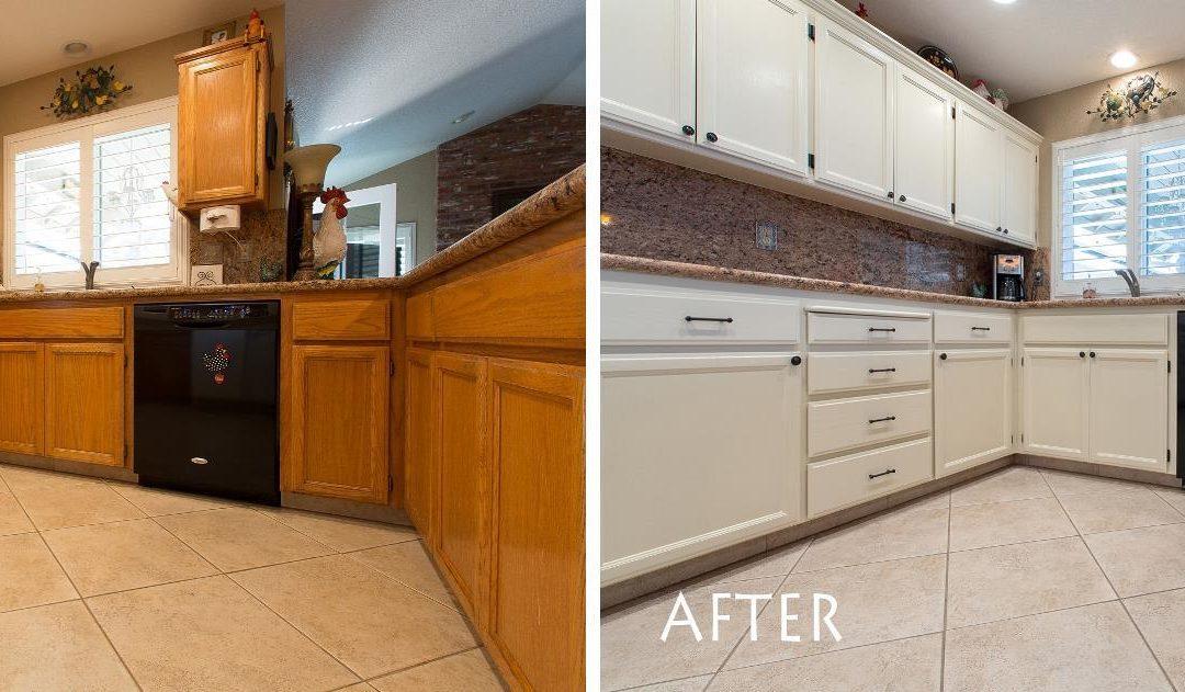 KitchenCRATE Refinish Lakeshore Court in Modesto, CA Complete!