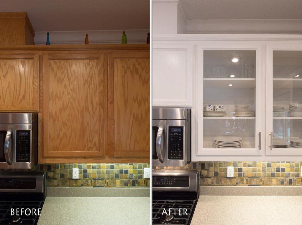 modern kitchen cabinets.