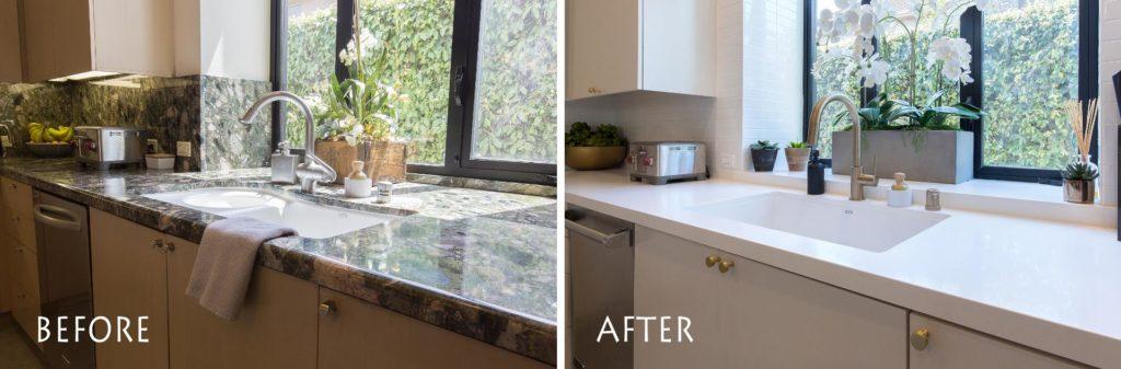 custom sink and countertop.