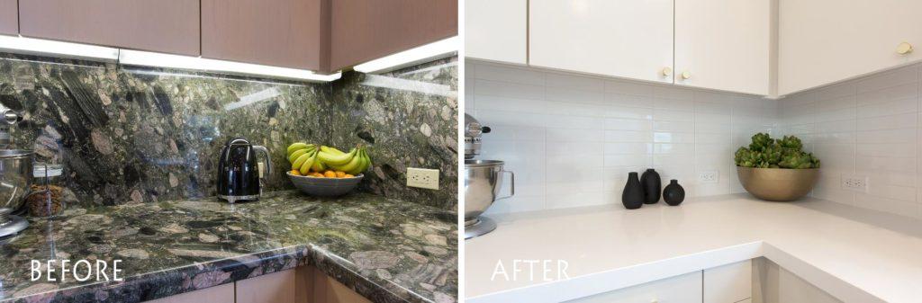 modern, white kitchen.
