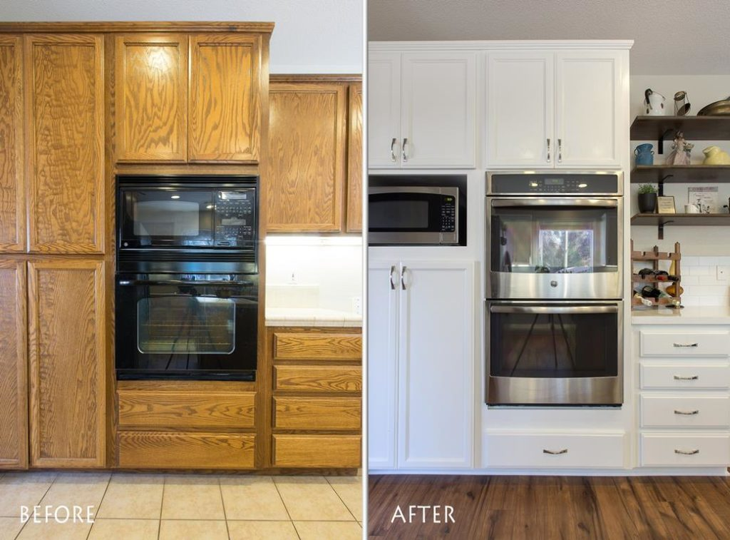 brand new appliances kitchen renovation.