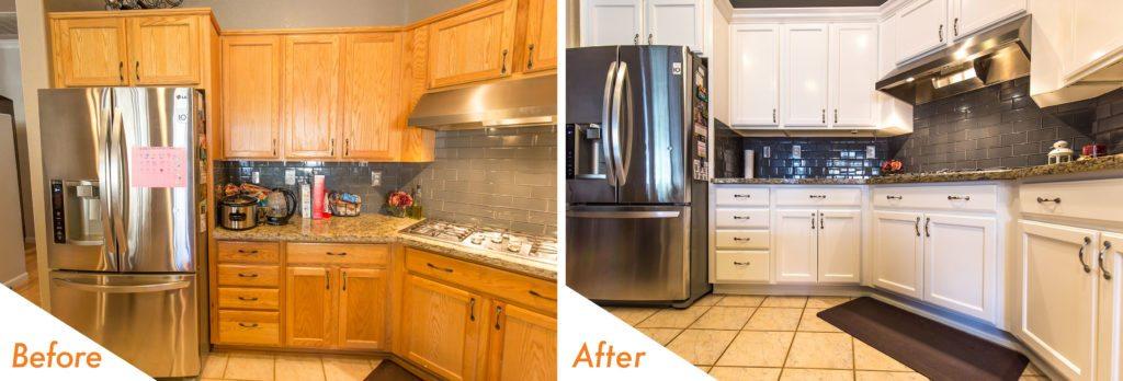kitchen cabinet refinishing.