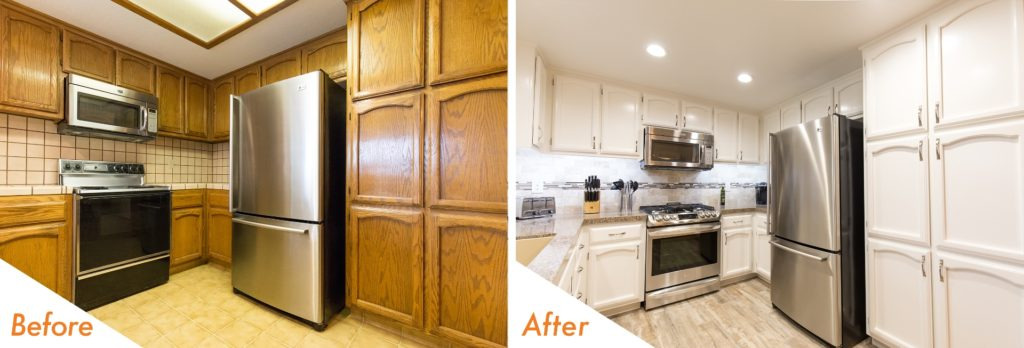 before and after kitchen remodel pictures.
