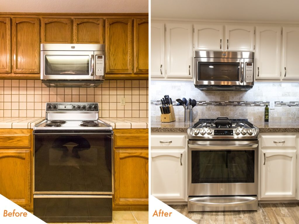 Beautiful kitchen remodel before and after pictures.