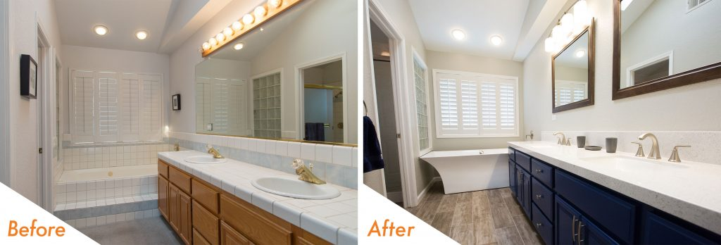 bathroom remodel completed in Modesto.