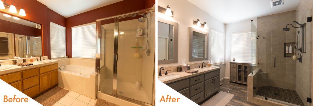 Bathroom renovation in Modesto, CA.