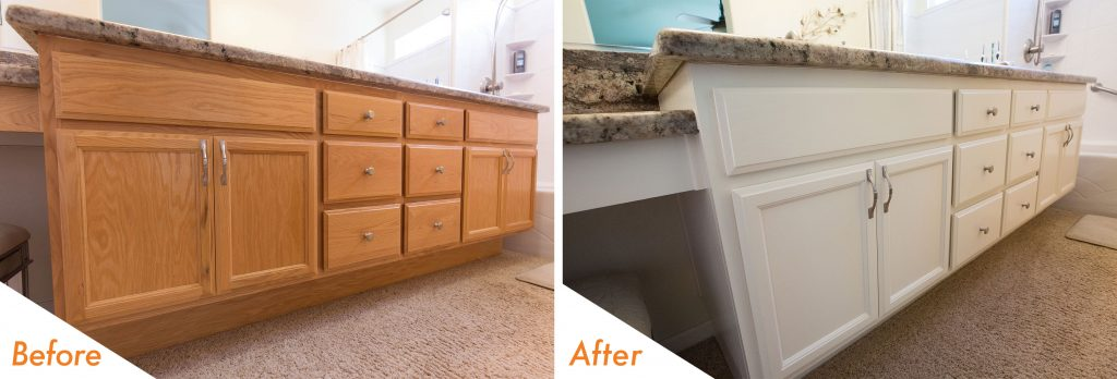 bathroom vanity cabinet refinishing.