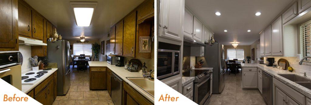 grey kitchen remodel.