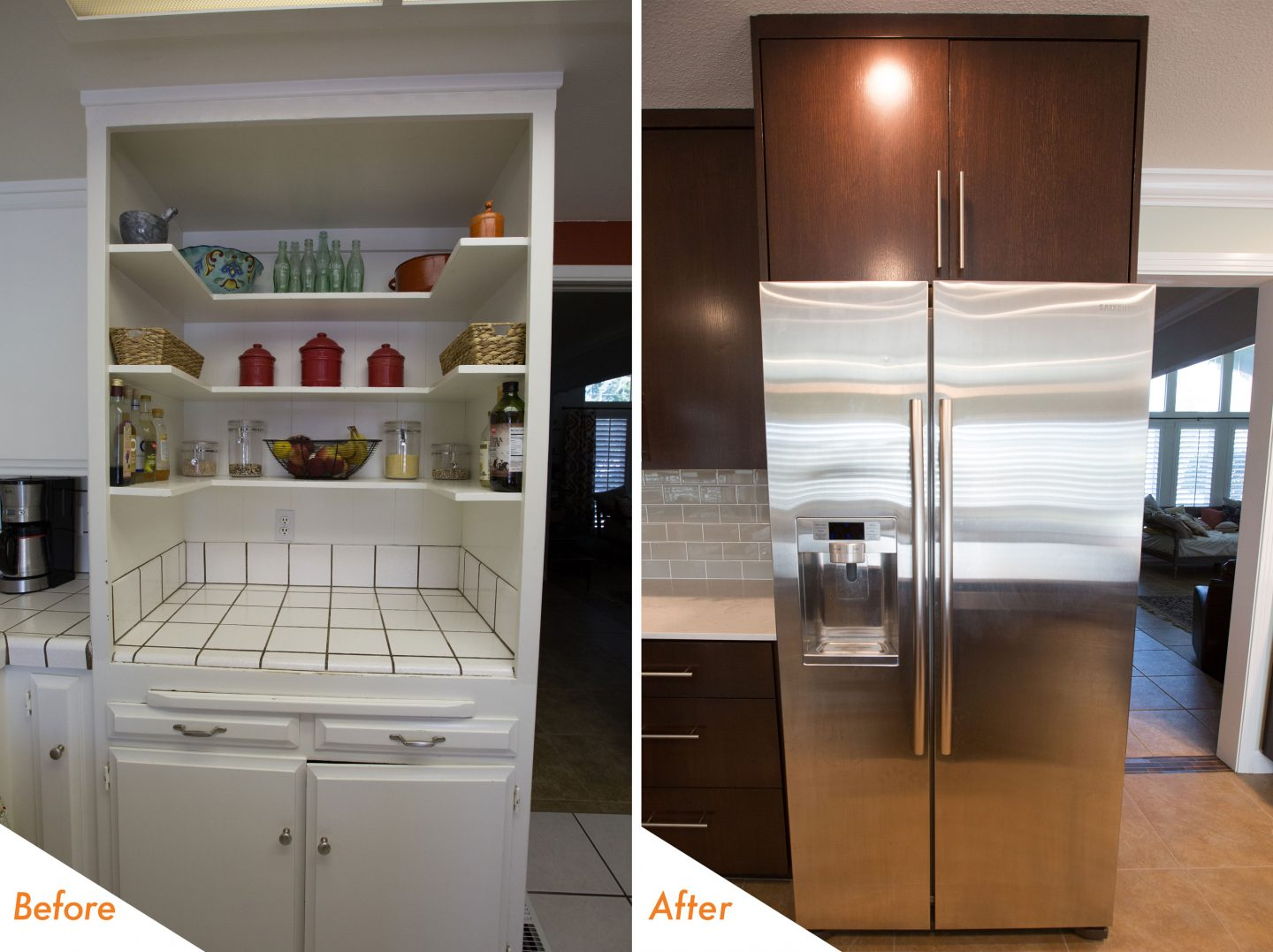 custom kitchen cabinets and new appliances.