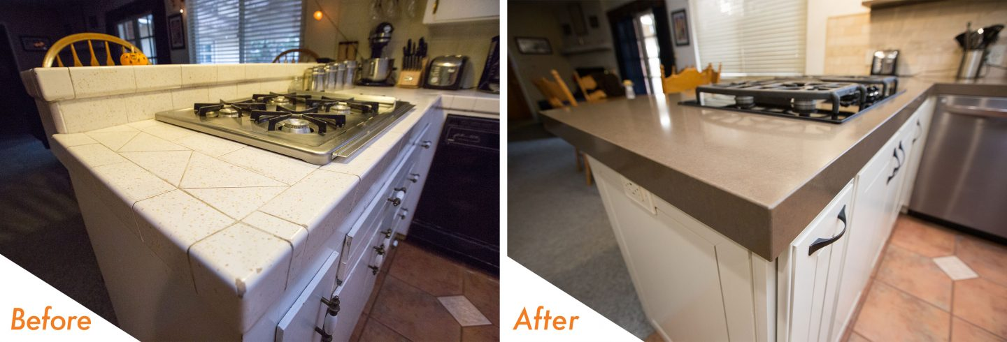 custom cabinets with new hardware.