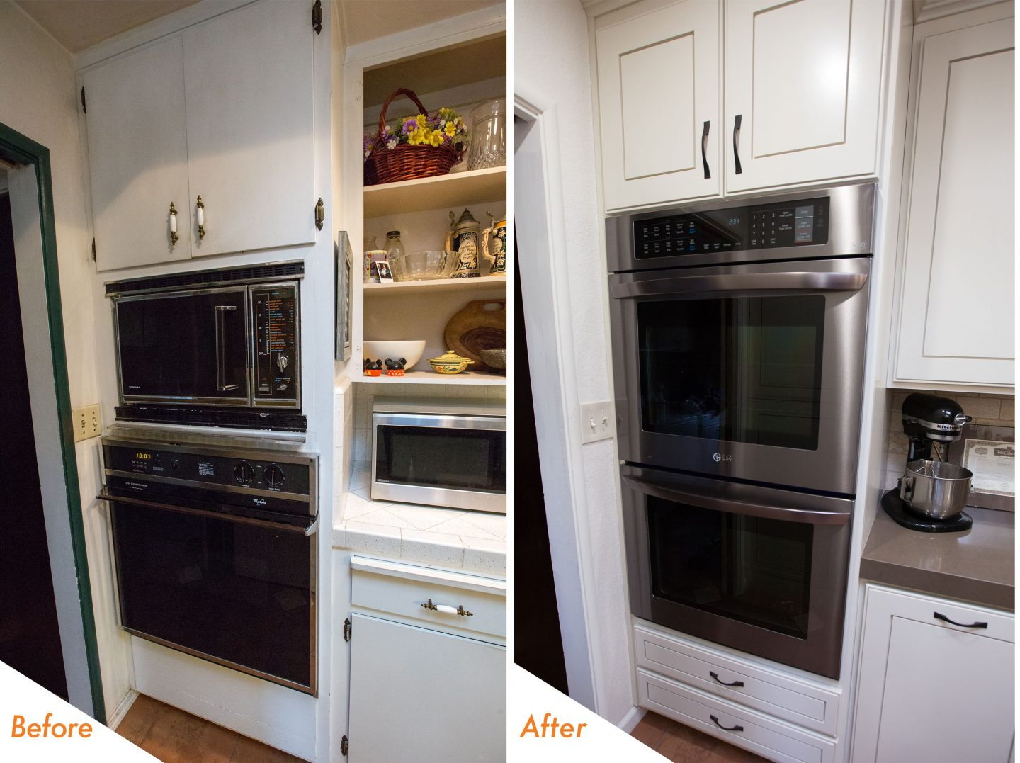 custom cabinets and new appliances.