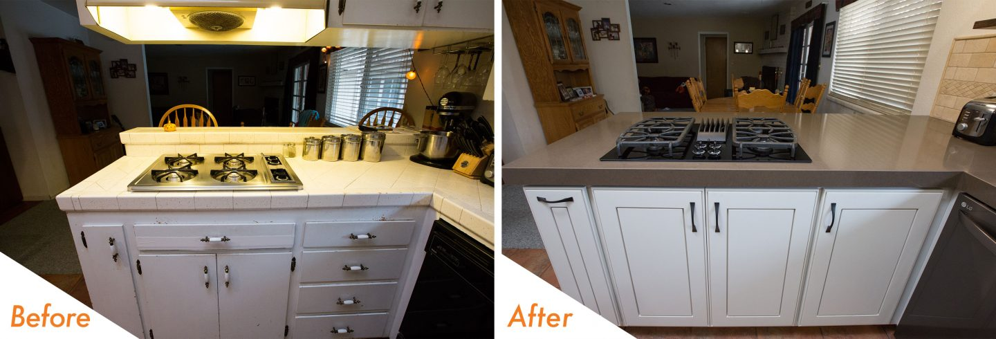 custom counters and modern appliances.