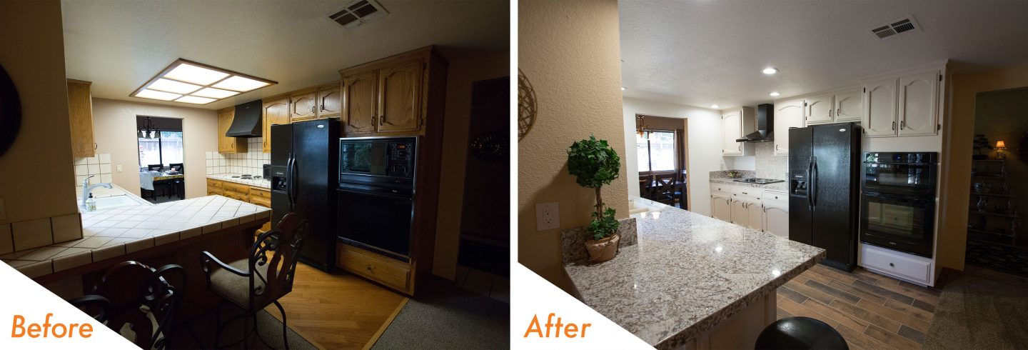 kitchen remodel in Ripon.
