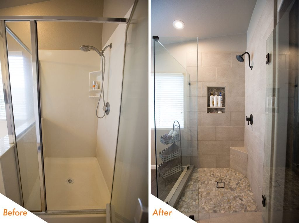 new frameless shower enclosure,