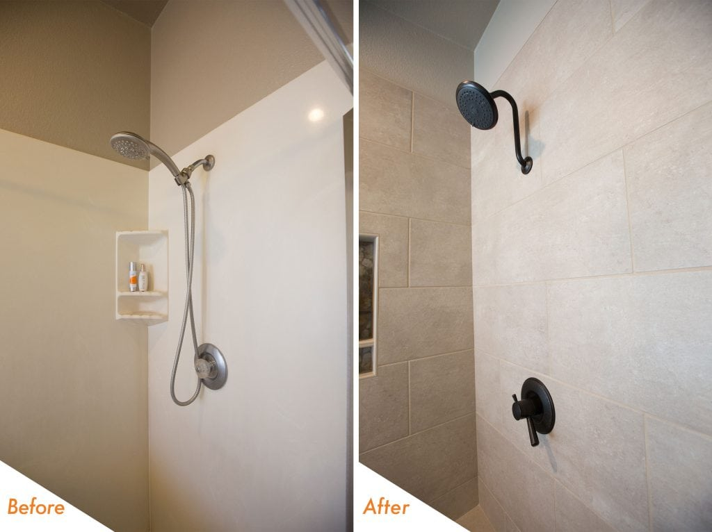 custom shower and new hardware.
