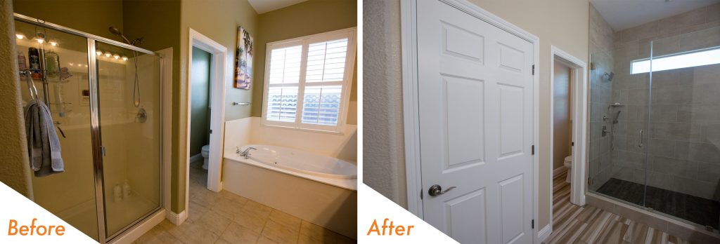 bathroom remodel in Brentwood.