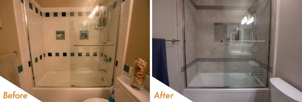 new shower and bath tub.