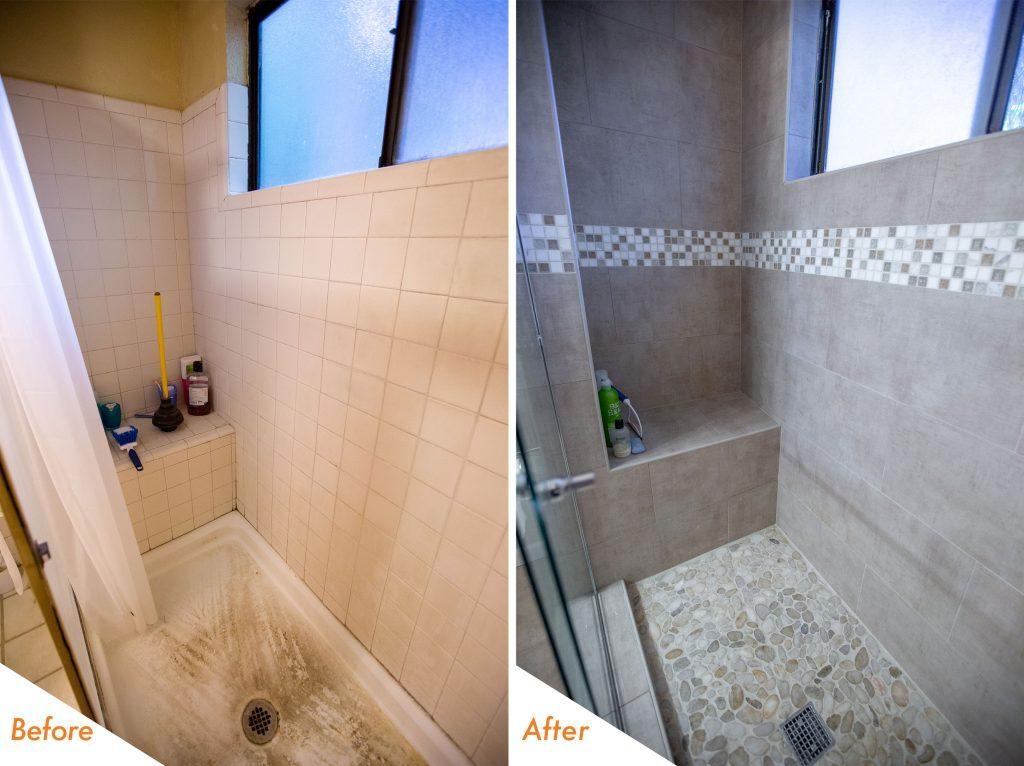 beautiful shower tile.
