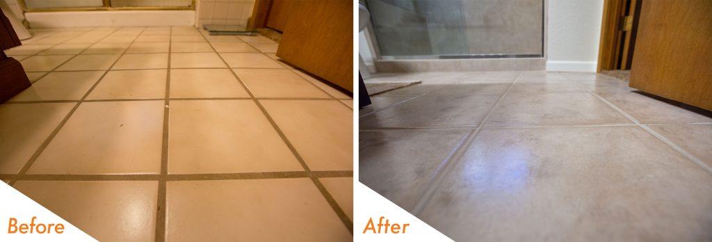 custom bathroom flooring.