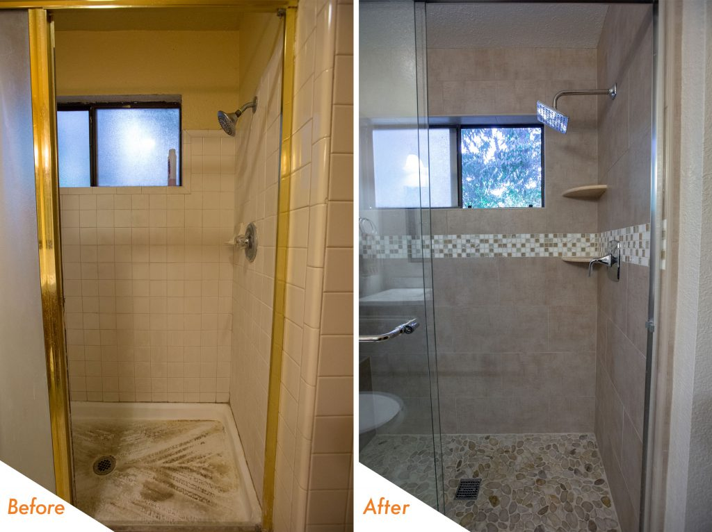 new custom shower and hardware.