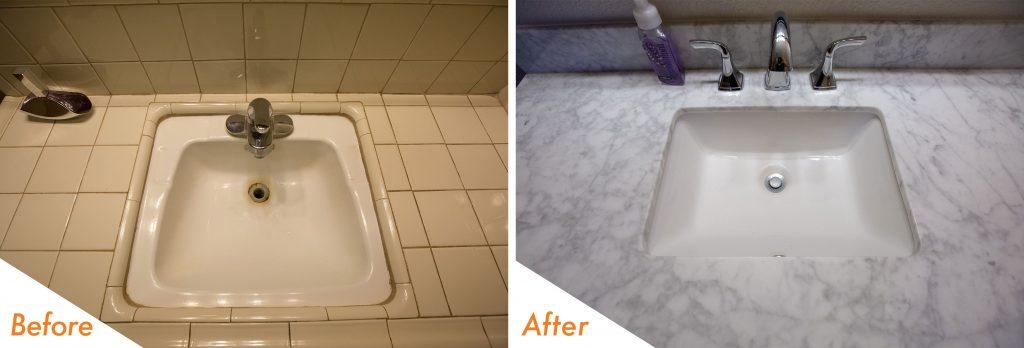 new vanity sink and fixtures.
