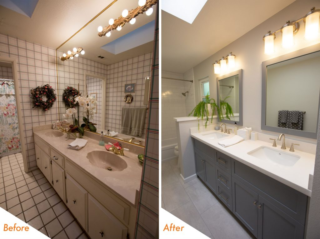 Bathroom Renovation Before and After.