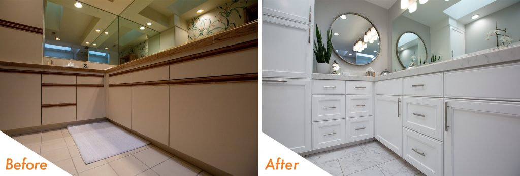 Before and After Cabinets.