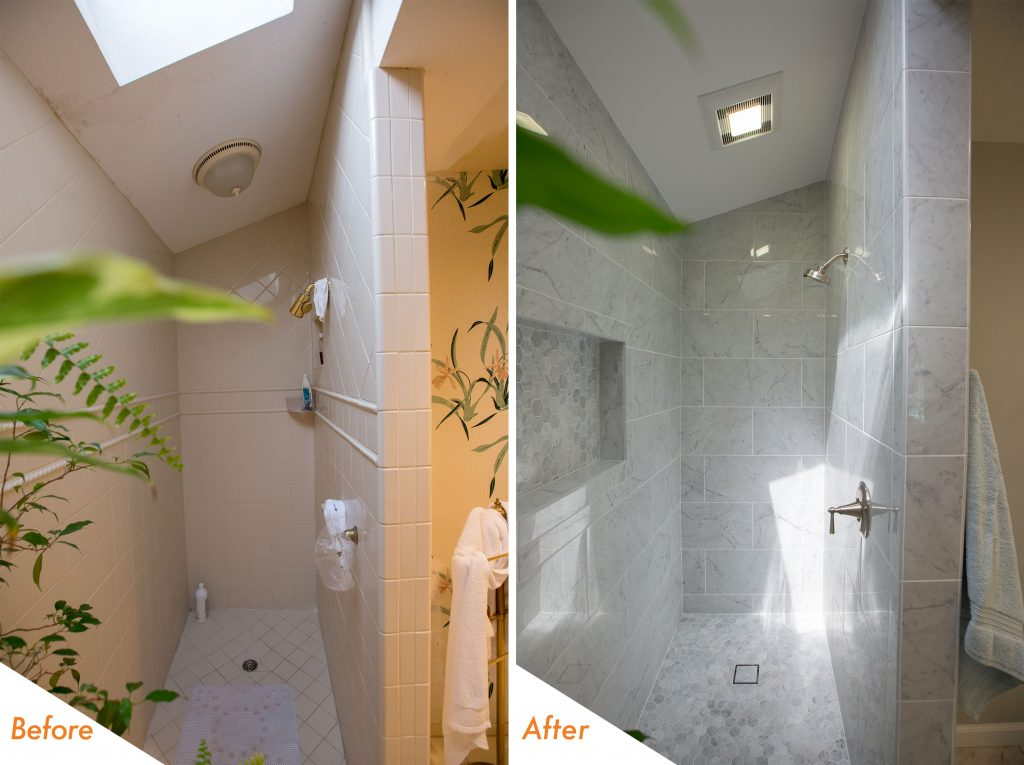Walk-in Shower Remodel.